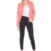 PINK CORAL FULL LEATHER JACKET-WOMEN